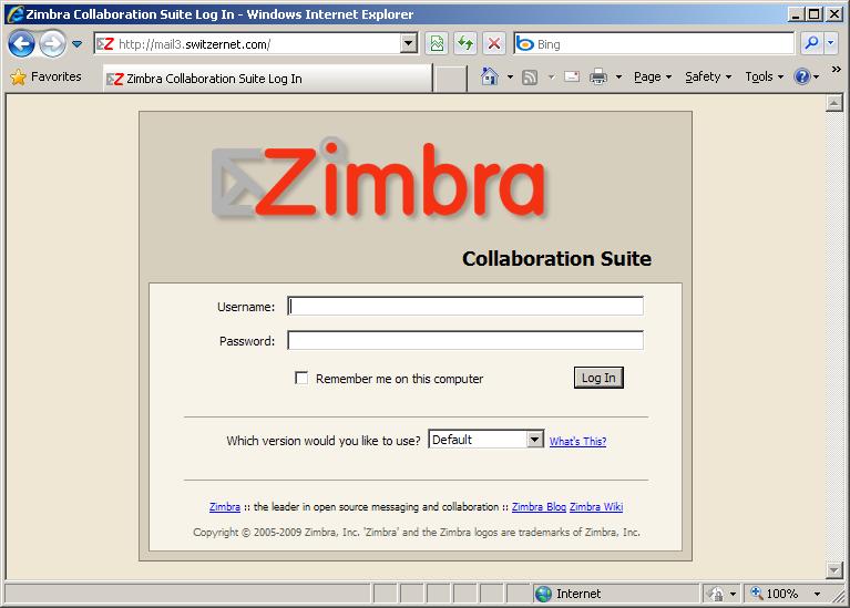 Zimbra mail server installation